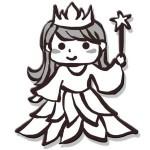 コウノトリ-お姫様