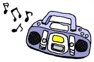 補正下着-ラジオ付きCDプレーヤー