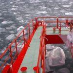 2018年 流氷を砕きながら突き進む ガリンコ号Ⅱ