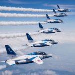 ブルーインパルスの美しい編隊飛行
